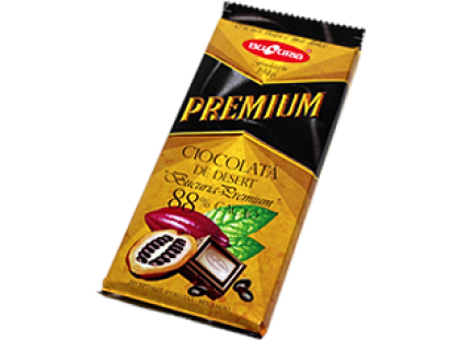 Молдавский горький шоколад BUCURIA PREMIUM 1/090 (MIGDALE, STAFIDE) ТМ Букурия, фото 2
