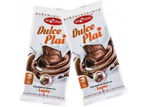 Молдавский десертный молочный шоколад DULCE PLAI CU LAPTЕ 90 гр ТМ Букурия