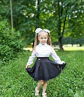 Школьная юбка черного цвета на молнии