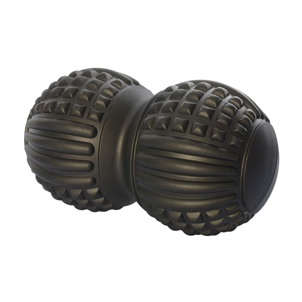 Мяч массажный (двойной, арахис), черный MS 2481B