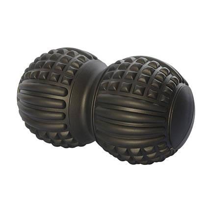 Мяч массажный (двойной, арахис), черный MS 2481B, фото 2