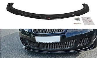 Диффузор переднего бампера губа элерон накладки тюнинг Bentley Continental GT