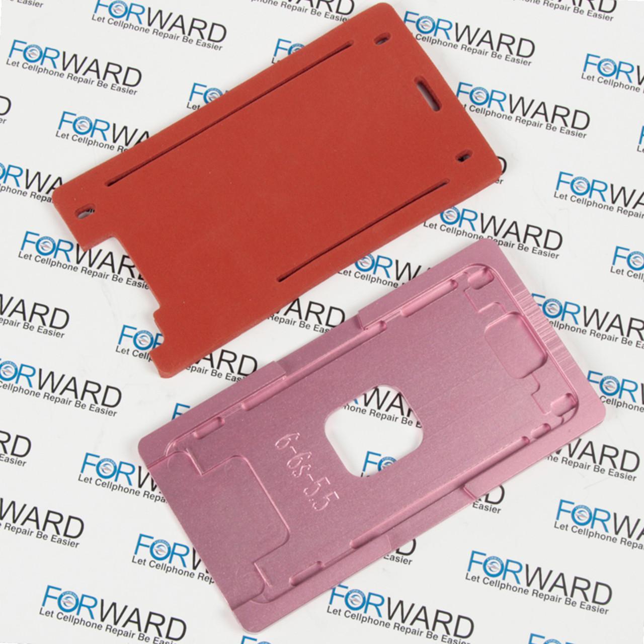 Формы для фиксации дисплея IPhone 6+, 6S+ алюминиевая и резиновая