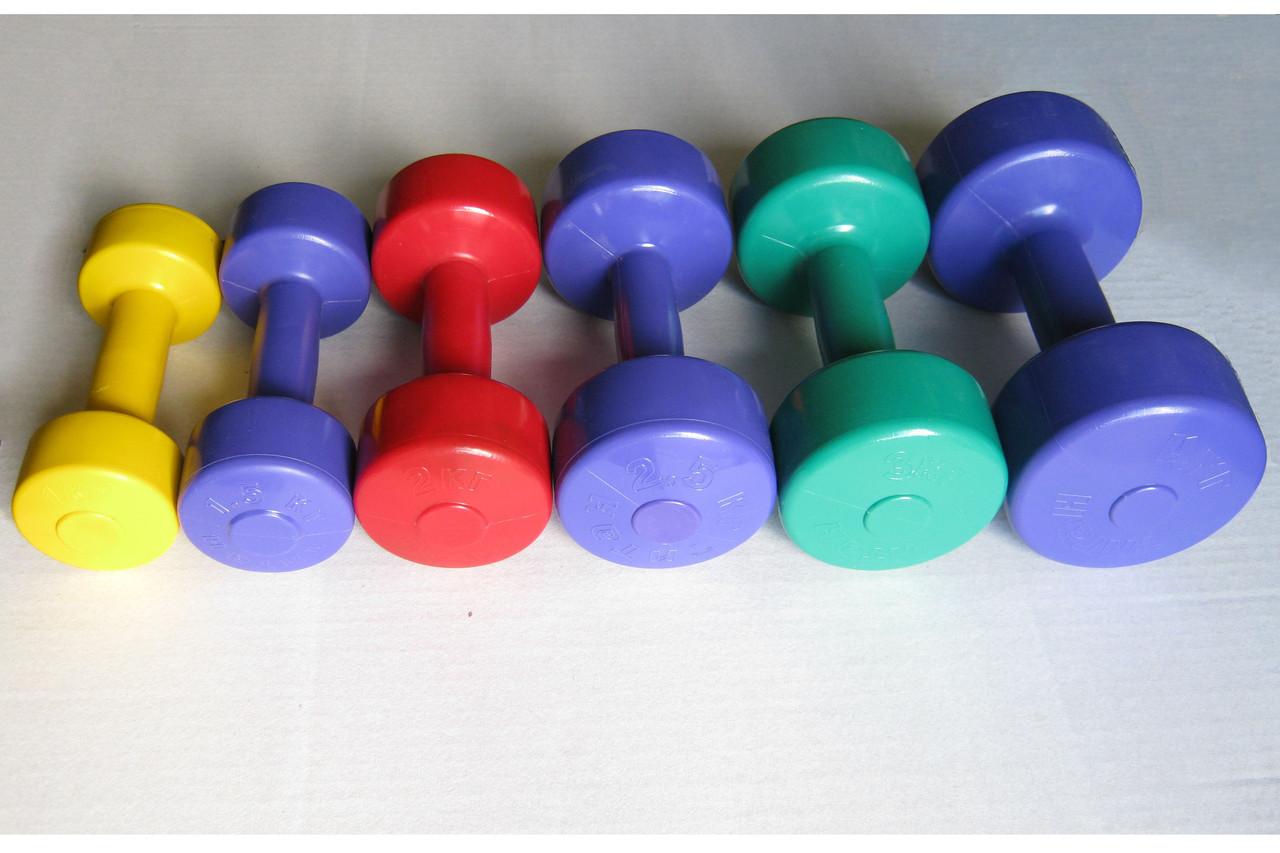 "Ряд гантелей для фитнеса ""Титан"" 0,5-4 кг (7 пар)"