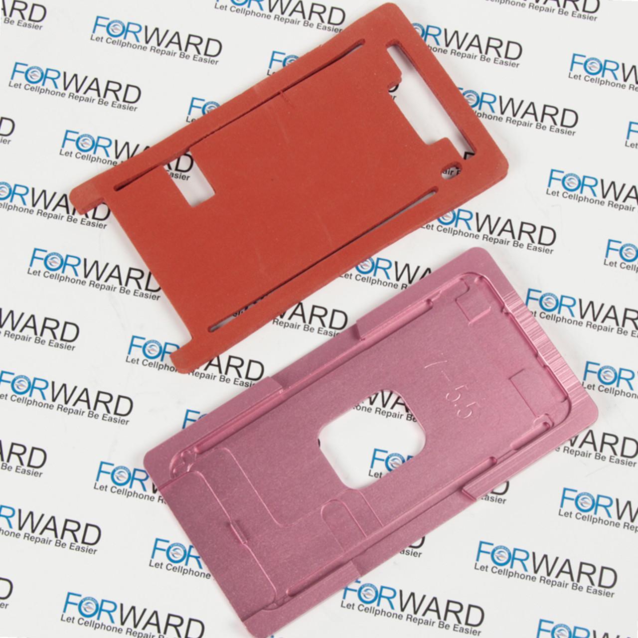 Формы для фиксации дисплея IPhone 7+ алюминиевая и резиновая