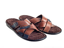 Шлепанцы Etor 695-16248 коричневые