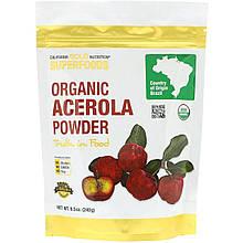"""Порошок ацеролы (барбадосской вишни) California GOLD Nutrition, Superfoods """"Organic Acerola Powder"""" (240 г)"""