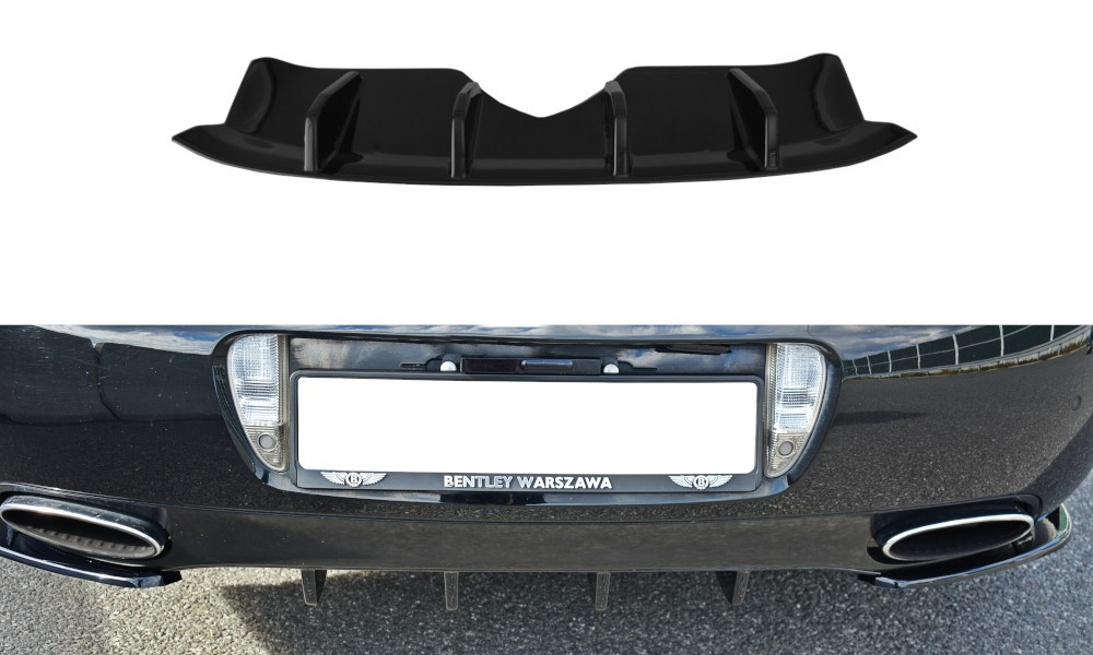 Диффузор юбка зданего бампера Bentley Continental GT (09-12)