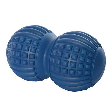 Мяч массажный (двойной, арахис), Синий MS 2481BL, фото 2