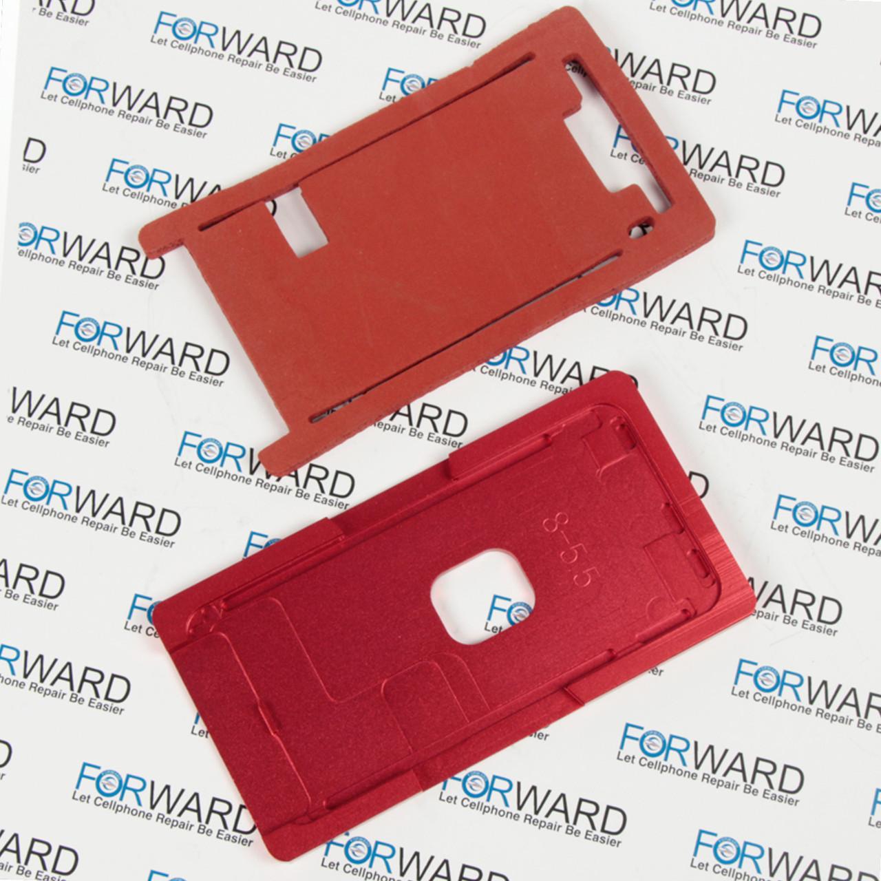 Формы для фиксации дисплея IPhone 8+ алюминиевая и резиновая