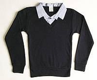 Рубашка-обманка школьная на 6-14 лет