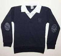 Рубашка-Обманка белый ворот на 6-14 лет
