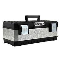 Ящик інструментальний металопластиковий - гальванізований (49.7 X 29.3 X 22.2см) Stanley 1-95-618 | инструментальный металлопластиковый