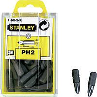 Біта PH2 25мм 25шт Stanley 1-68-946  біта, насадка, головка, бита, для шуруповерта, отвертки