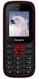 Мобильный телефон Bravis C180 Jingle Black Гарантия 12 месяцев