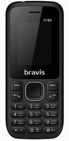 Мобильный телефон Bravis C182 Simple Dual Sim Black Гарантия 12 месяцев
