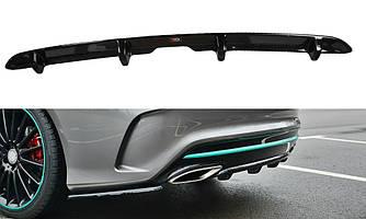 Элерон Mercedes CLA C117 AMG (2017+) тюнинг диффузор заднего бампера