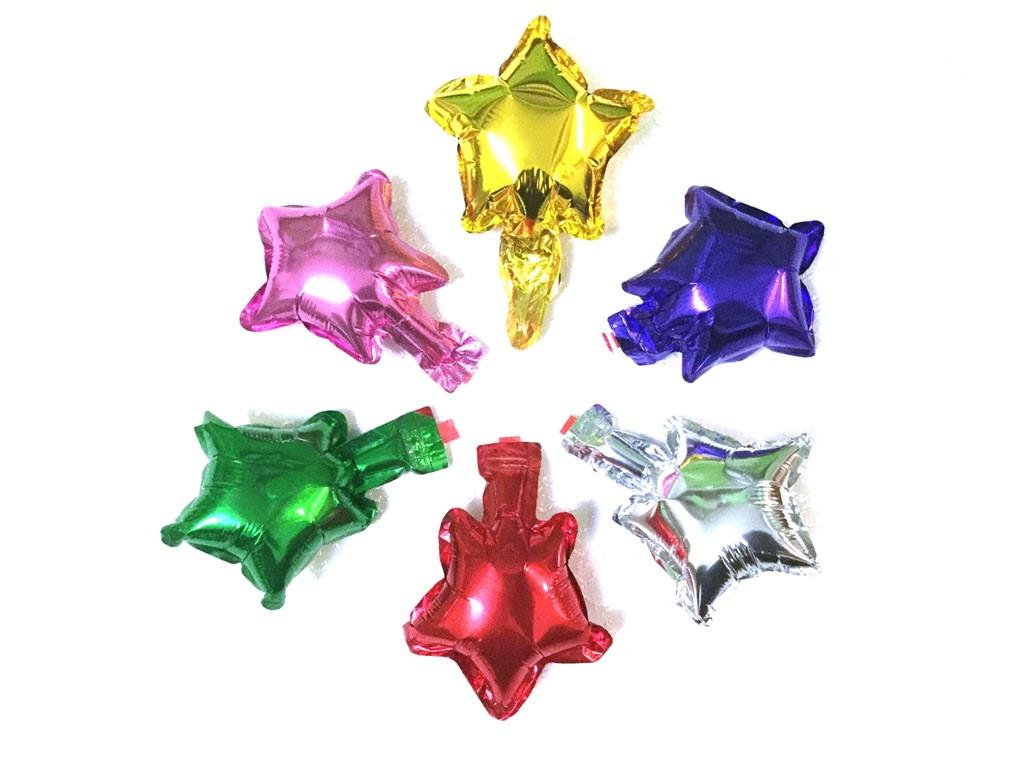 Фольгированные звезды для декора прозрачных шаров
