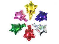 Фольгированные звезды для декора прозрачных шаров, фото 1