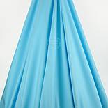Отрез поплина, однотонный цвет небесно-голубой №34-1372, размер 72*240 см, фото 2