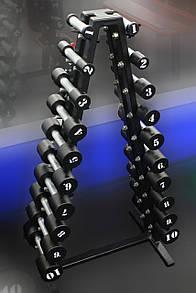 Гантельный ряд 1-10 кг МК-0110 (10 пар, шаг 1 кг)