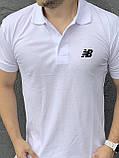 New Balance | Мужской летний спортивный костюм, комплект мужские шорты и мужская футболка поло | Нью Беленс, фото 2