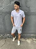 New Balance | Мужской летний спортивный костюм, комплект мужские шорты и мужская футболка поло | Нью Беленс, фото 4