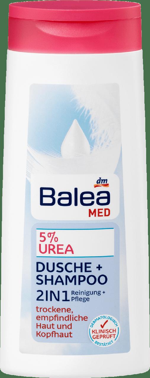 Шампунь + гель для душа с мочевиной Balea Med  5% Urea 2in1, 300 мл.