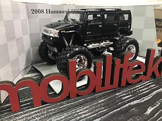 Машинка металлическая Kinsmart Hummer H2 черный/Большие Колеса/Открываются двери/