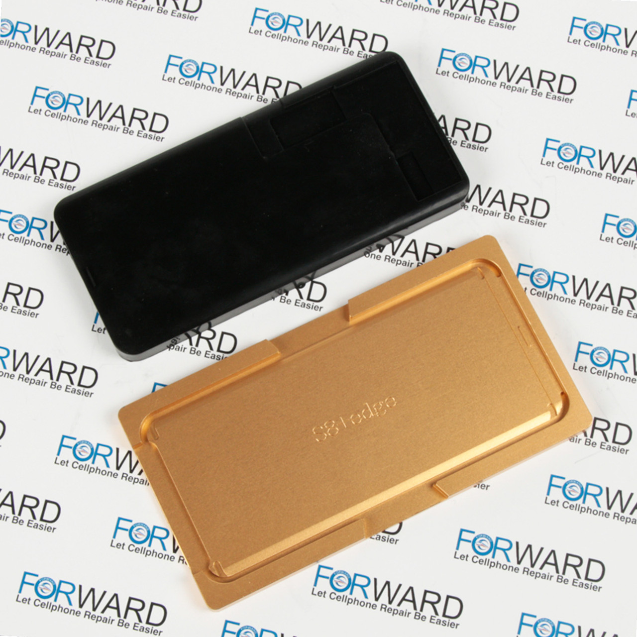 Формы для фиксации дисплея  Samsung Galaxy S8+, G955F (EDGE) алюминиевая и резиновая