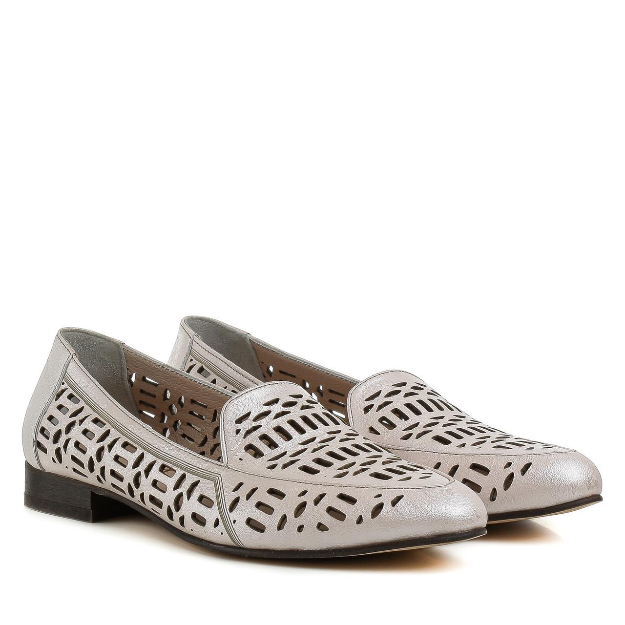 Туфли женские FLORYA (качественные, кожаные, с перфорацией)