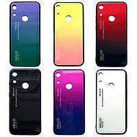 TPU+Glass чехол градиент для Huawei Honor 8A HELLO (Разные цвета)