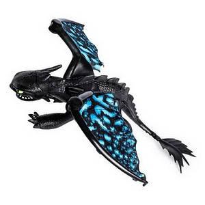 Как приручить дракона 3: фигурка де-люкс дракона Беззубика со световыми и звуковыми эффектами Spin Master