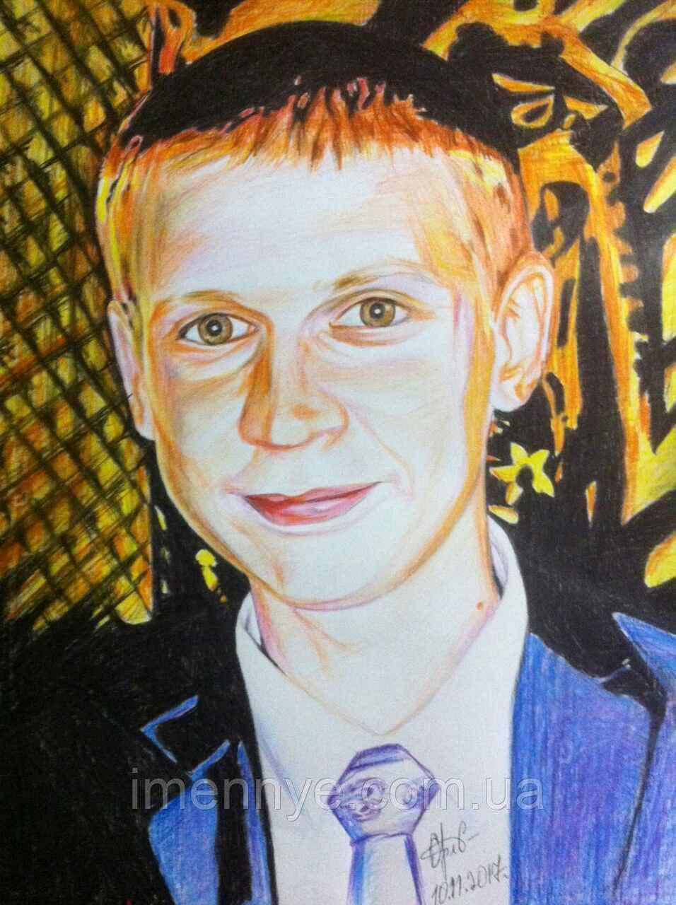 Портрет цветными карандашами по фото