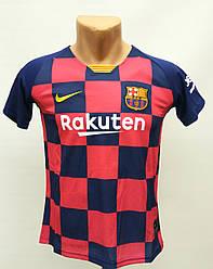 Футбольная форма детская/Barcelona домашняя в стиле Nike сезон 2020/комплект формы детской с чистой спиной/