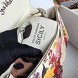 Сумка Дольче Габбана Miss Sicily 25 см натуральная кожа, фото 5