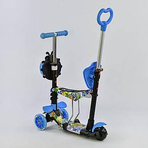 Самокат Best scooter 5 в 1 с подсветкой платформы и подножками, фото 2
