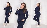 Брючный костюм из трикотажа двунитка, пиджак+брюки приуженые, пять цветов, р.48-50;52-54;56-58 код М165П, фото 3