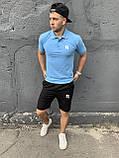 Reebok | Мужской летний спортивный костюм, комплект мужские шорты и мужская футболка поло | Рибок, Рібок, фото 3