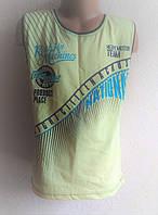 Стильная детская майка,футболка для мальчика 122 рост Желтая