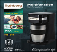 Кофеварка с термостаканом 750Вт Rainberg RB-611