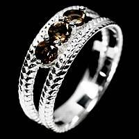 Серебряное кольцо с раухтопазом, Ø3,5 мм., 1138КР