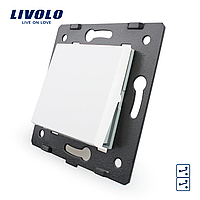 Клавишный перекрестный выключатель Livolo, цвет белый (VL-C7-K1S2-11)