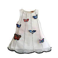Летнее платье с бабочками размер 86.
