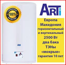 Водонагреватель Arti 80 л ТЭНы мокрые. Македония WH Flat M 80L/2 плоский