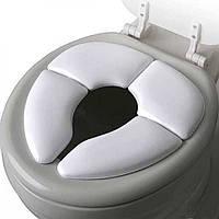 Дитяча дорожня складана накладка SUNROZ Toilet Seat на унітаз Білий (SUN5010)