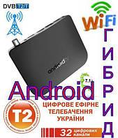 Смарт ТВ приставка Mecool M8S Plus DVB T2 с Т2 Тюнером + Фильмы + Телевидение S905D Android 7.1