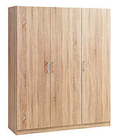 Шкаф распашной на 3 дверки (цвет дуб), фото 1