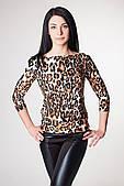 ENSOUL Блуза RLT723156 Веер (46, леопард крупный)