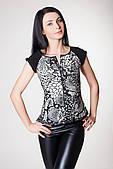 ENSOUL Блуза RLT723049101 Венеция (42, питон черный, черный, масло)